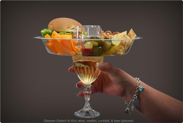 The Goplate A Snack Plate That Wraps Around Your Beer