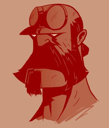 Bearded Hellboy