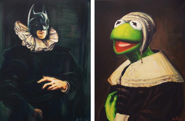 Bat Brueghel and Kermit