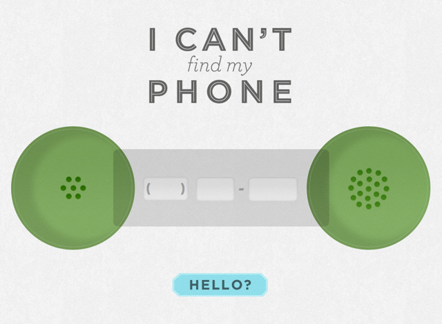 I Can't Find My Phone