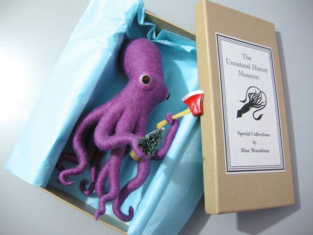 Ax Wielding Octopus by Hine Mizushima