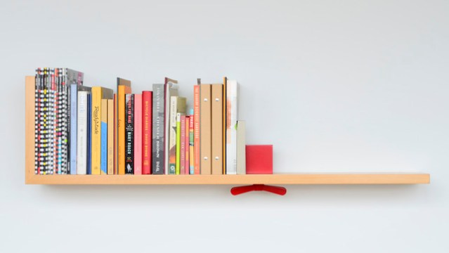 Hold on Tight bookshelf concept by Colleen & Eric