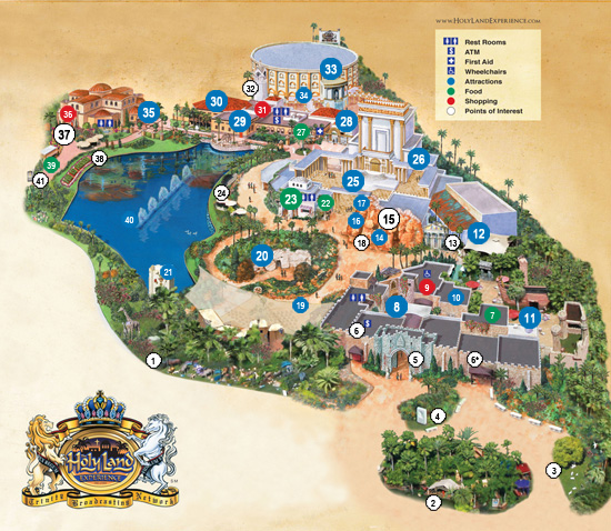 Map of Holy Land Experience