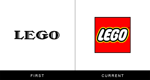 Original and Current LEGO Logo