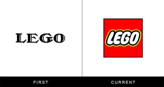 Original and Current LEGO Logo