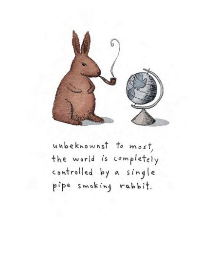 The world is controlled by a rabbit