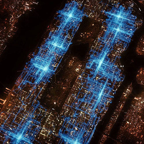 Visualization of NYC Pizza Delivery Routes PBS America Revealed