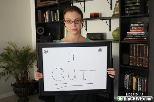 Woman Quits Job Via Dry Erase Board
