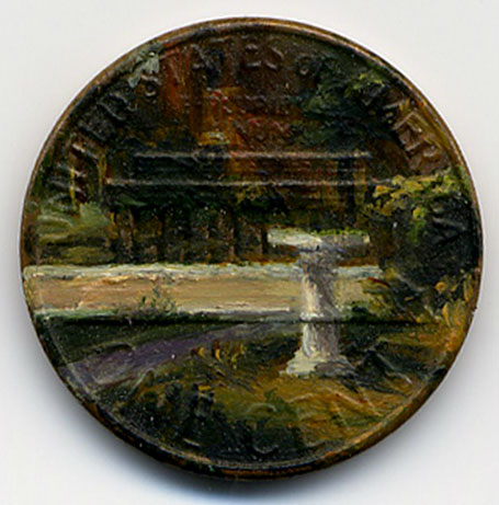 paintings on pennies by Jacqueline Lou Skaggs