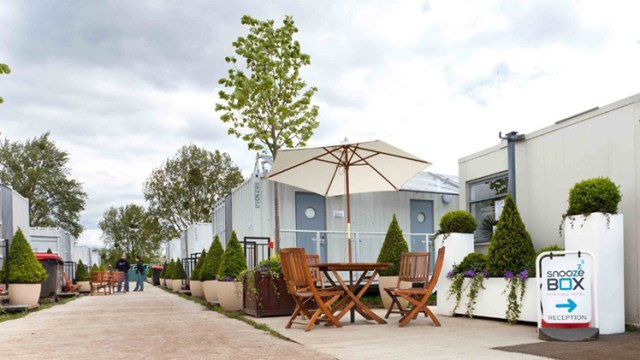 Snoozebox Portable Shipping Container Hotel