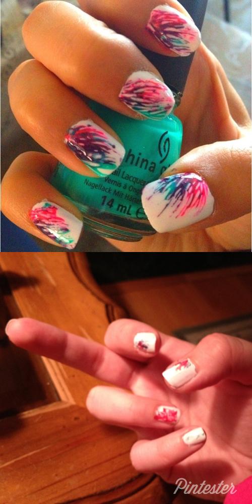 Summertime Splashy Nails