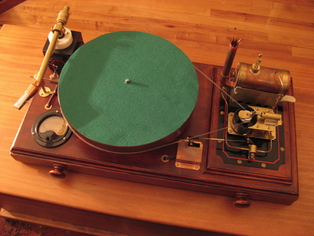 Steam-Powered Record Player