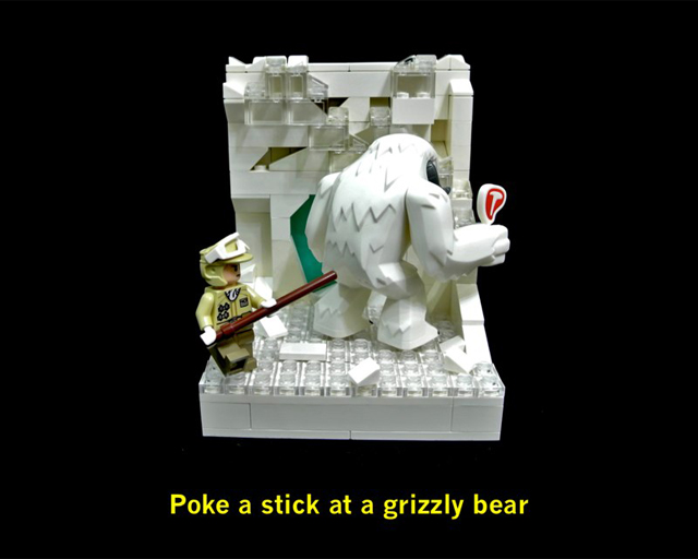 Poke a stick at a grizzly bear