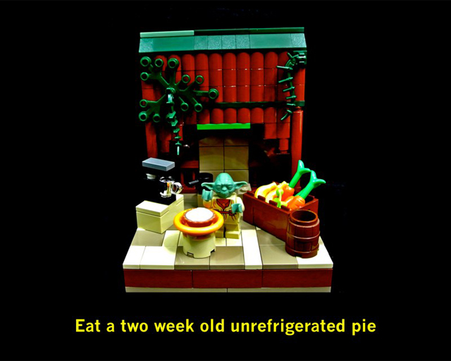 Eat a two week old unrefrigerated pie