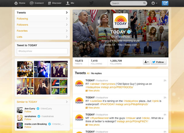 Twitter updates user profiles
