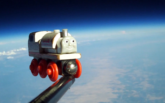 A Toy Train in Space by Ron Fugelseth