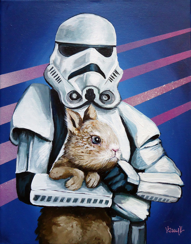 Stormtrooper with Bunny by Kelly Kerrigan