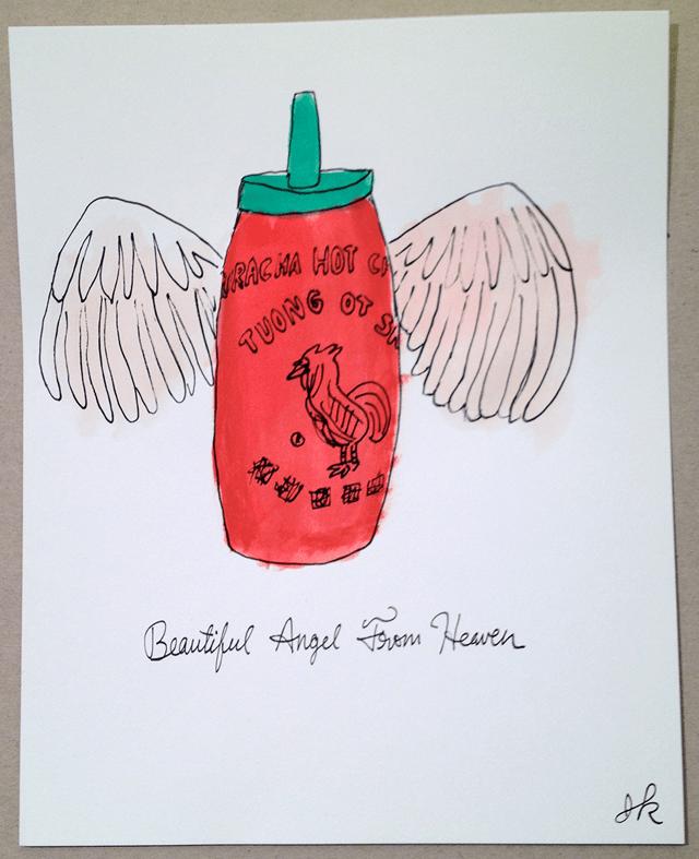 Sriracha Hot Sauce by Adam J. Kurtz