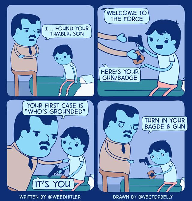 Twitter Comic Tumblr Cop