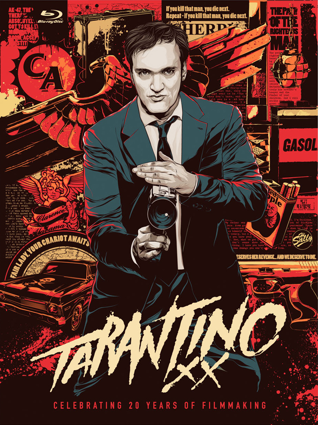 Tarantino XX poster design by Ken Taylor