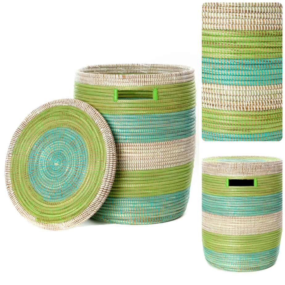 African Woven Hamper African Laundry Baskets African Woven Laundry Hampers