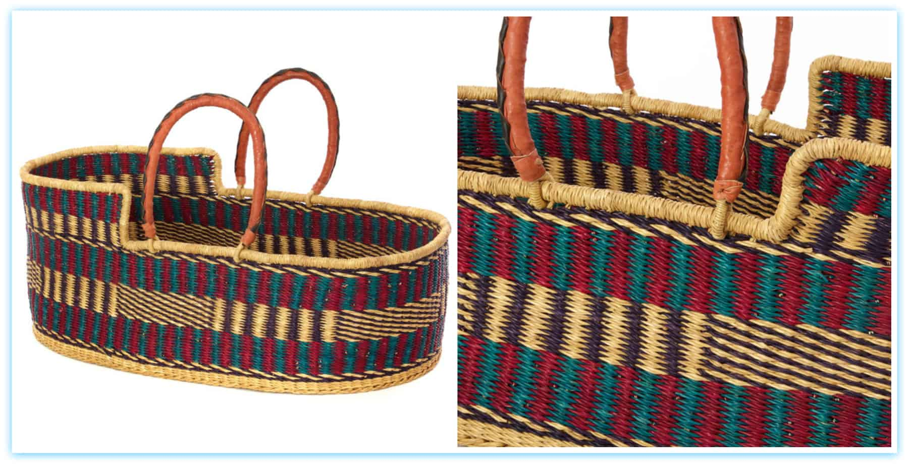 African Woven Hamper African Moses Basket Laundry Shoppe