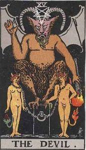 The Devil Card -- Rider Waite Deck