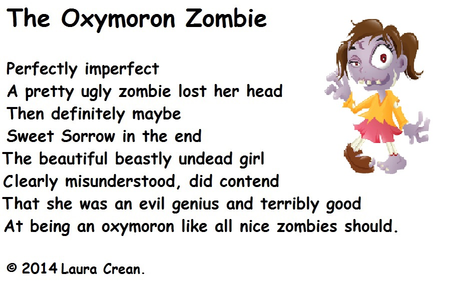 The Oxymoron Zombie Oxymorons (Oxymora) Pinterest - best cover letters samples