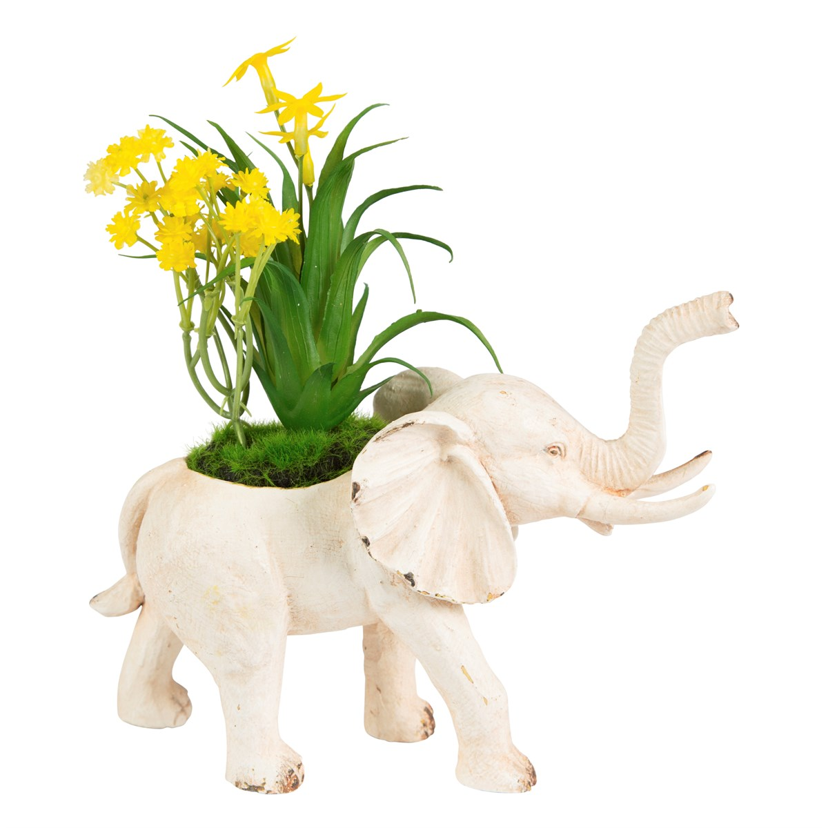Elephant Decoration Interieur Rustic Elephant Decoration With Flowers