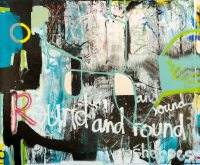 Extra large contemporary abstract painting; oversized ...