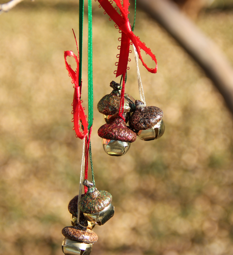 Acorn jingle bell christmas ornaments