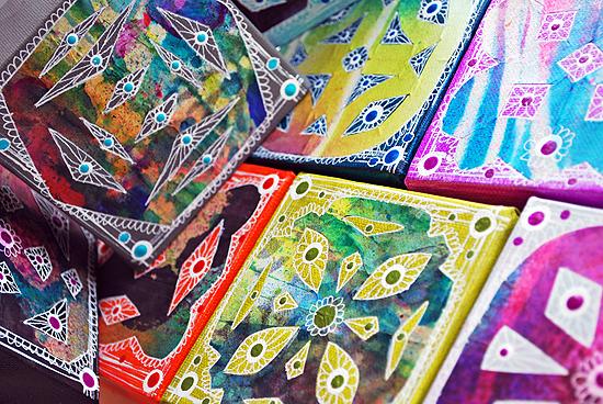 21wycinanki canvas tiles laura miller artist