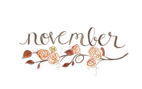 Cute November Calendar Wallpaper 2014 Watercolor Calendar Laura Pol