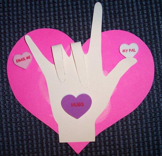 ASL Sign Language Felt Heart valentines day Pinterest Asl - valentine craftf