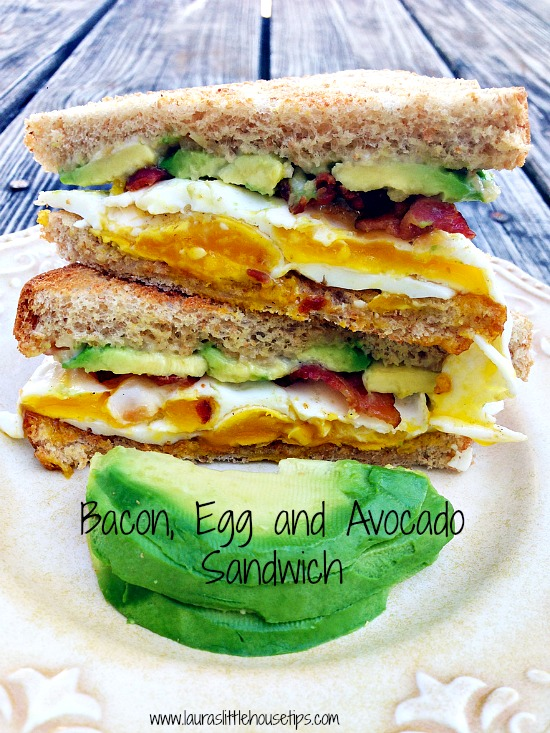 Bacon, Egg and Avocado Sandwich | Laura's Little House Tips