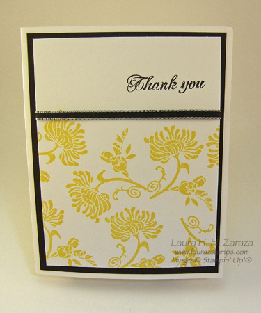 A Delightful Thank You Card laurazstamps - make your own thank you cards