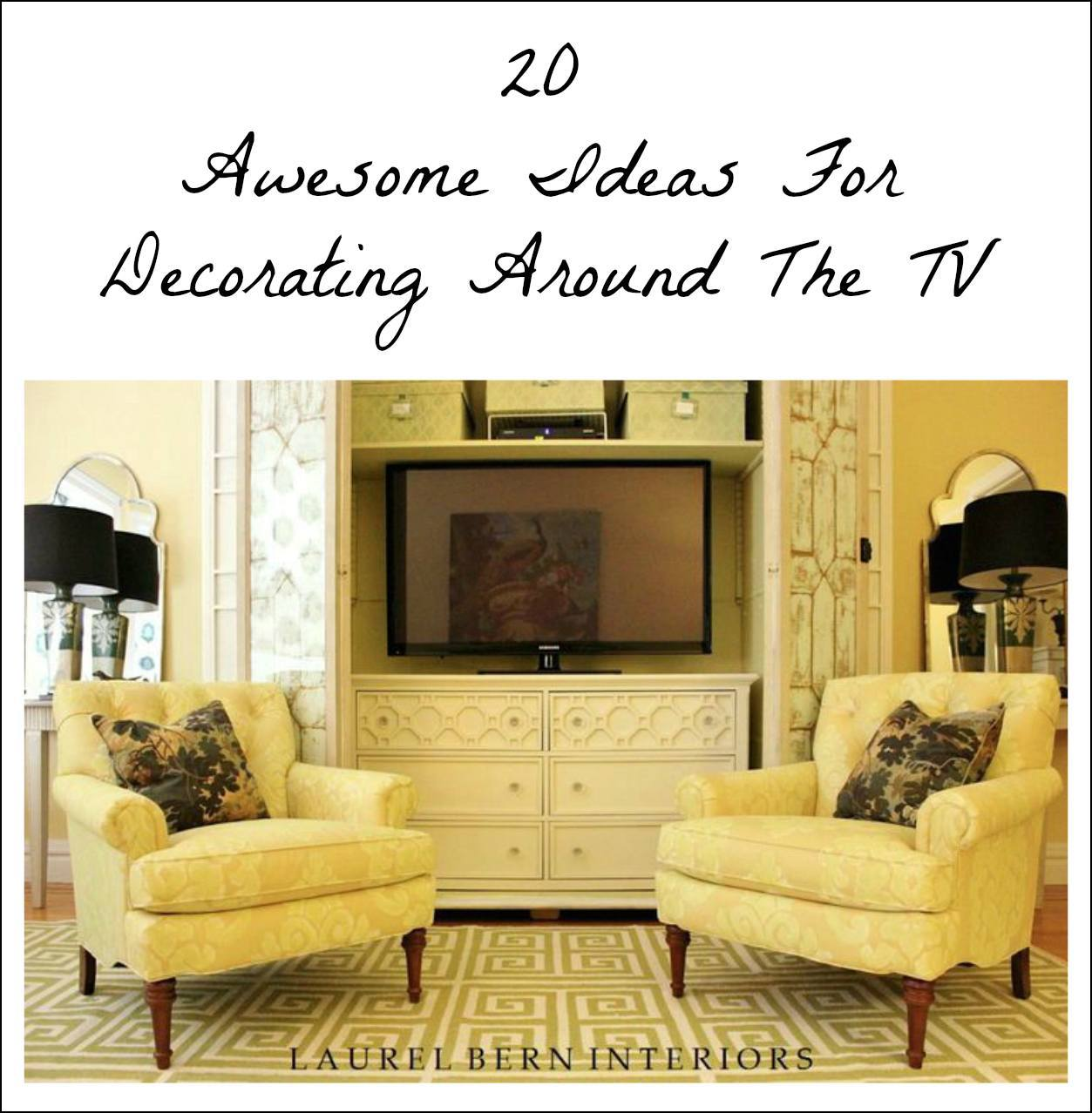 20 Awesome Ideas Decorating Around Tv Laurel Home