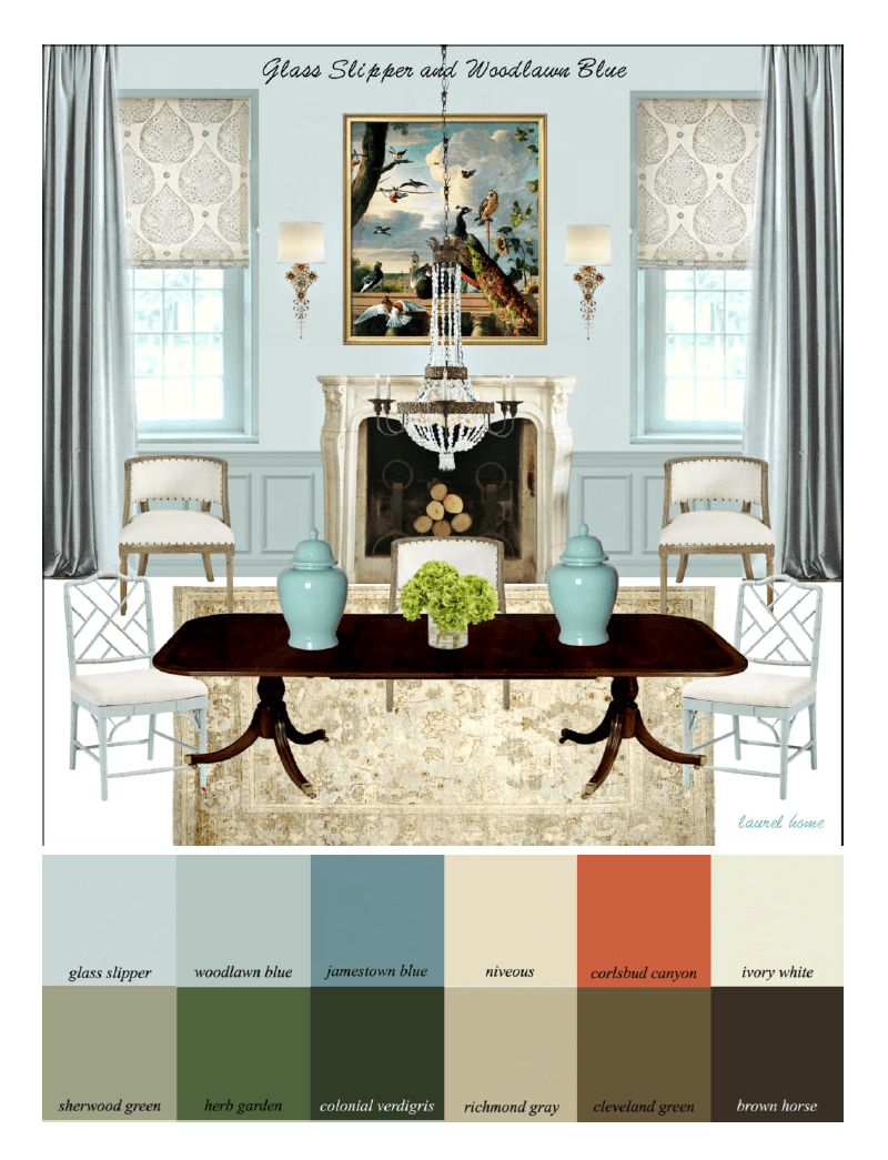 Paint Colors That Flow From Room To Room The Laurel Home Paint Palette And Home Furnishings Collection Is
