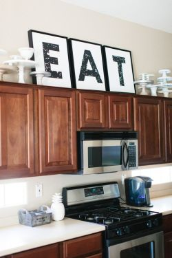 Small Of Kitchen Decor Above Cabinets