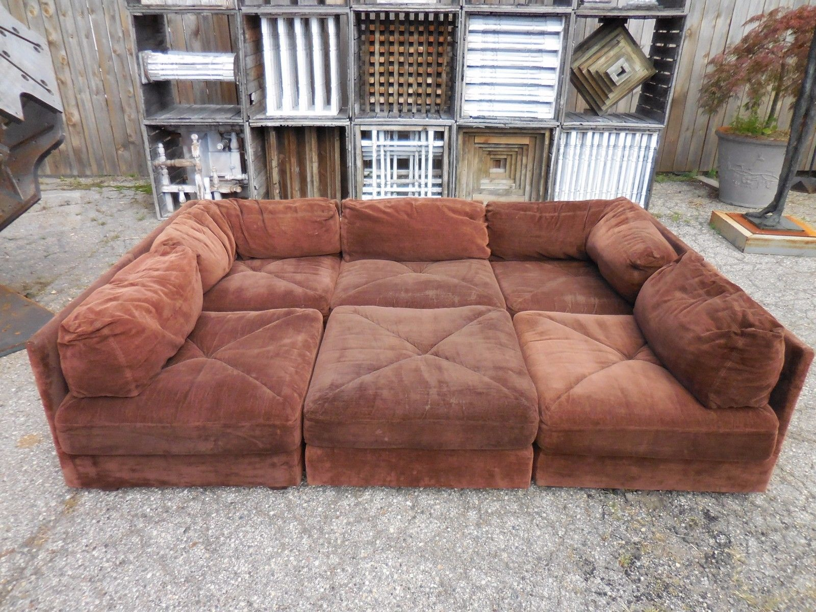 Couch Gross 70s Gross Pit Sectional Sofa Laurel Home