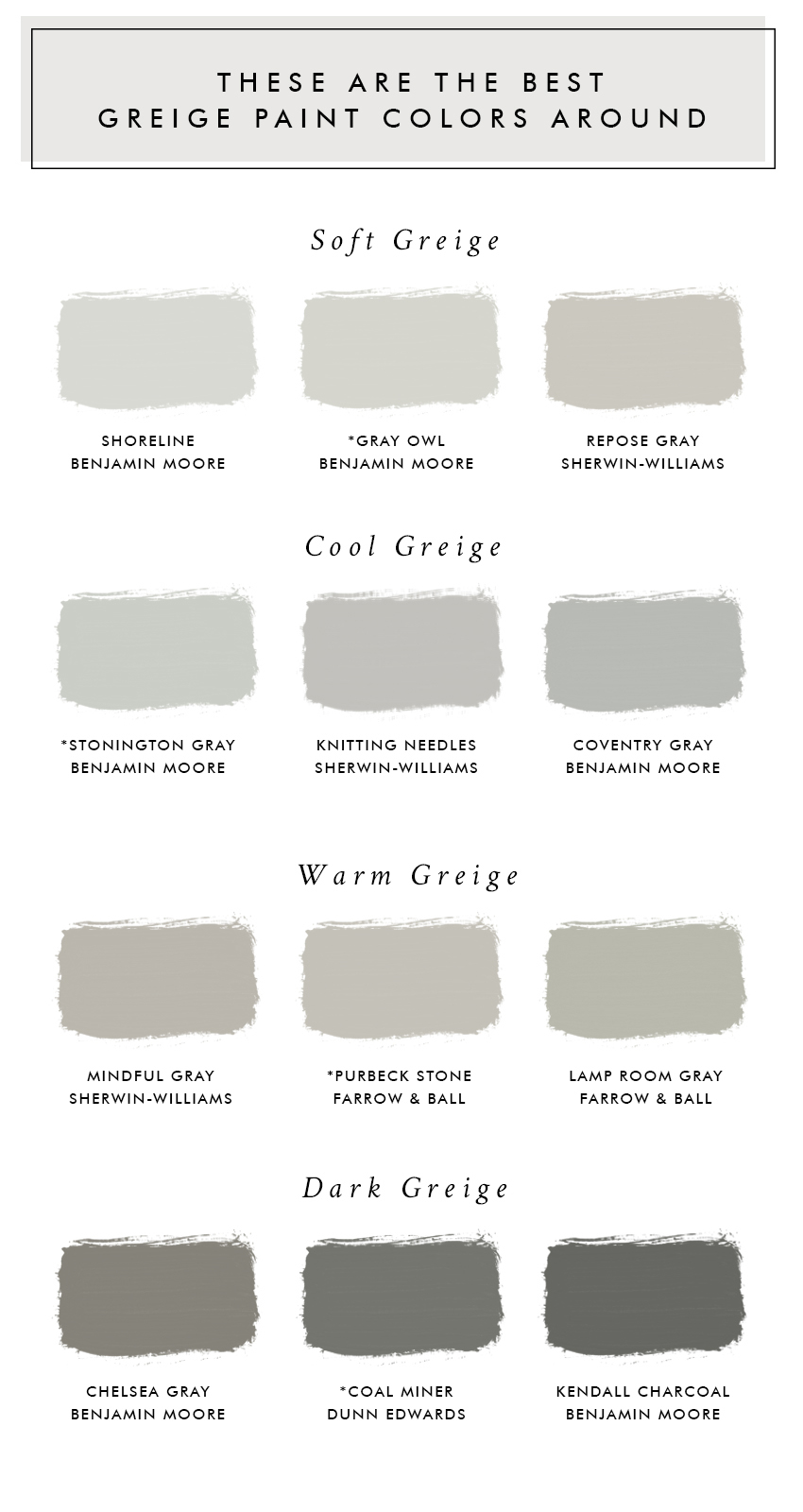 Best Benjamin Moore Gray Colors These Are The Best Greige Paint Colors Around Laurel Harrison