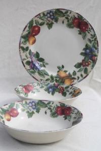 Sonoma fruit Sakura Oneida stoneware dinnerware set for 6 ...