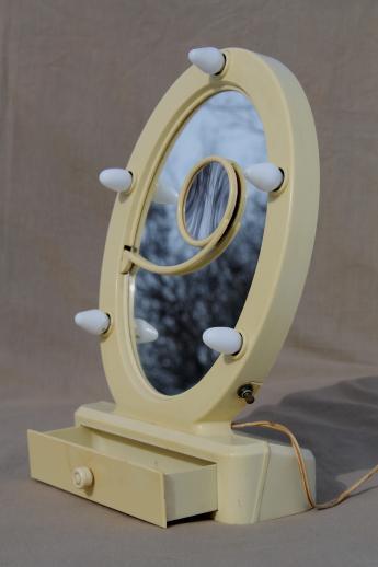 art deco lighted mirror