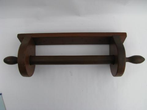 Country Pine Vintage Wood Paper Towel Roll Holder For Kitchen