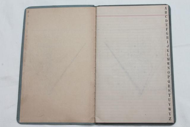 early 1900s vintage Ledger w/ lined paper, unused large blank book - blank lined page