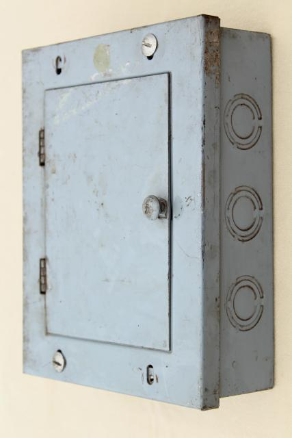 industrial steel electrical control box for screw type fuses