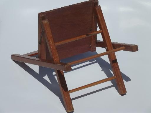 Old Wooden Folding Chair Little Child39s Size Camp Seat