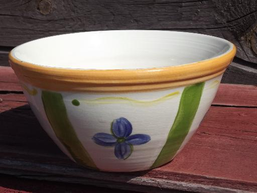 Painted Flowers Nesting Mixing Bowls Vintage French Or