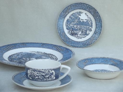 Fantastic Country Kitchen Dinnerware Sets ... & Blue And White Dinnerware Sets - Castrophotos