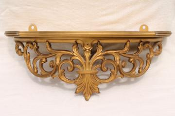 Vintage Burwood Syroco Gold Rococo Mirrors And Sconces